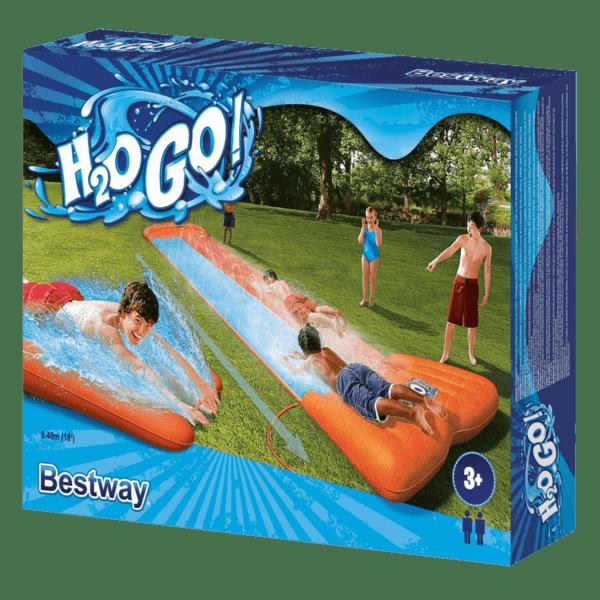 opblaasbare waterglijbaan double slide | summertoys
