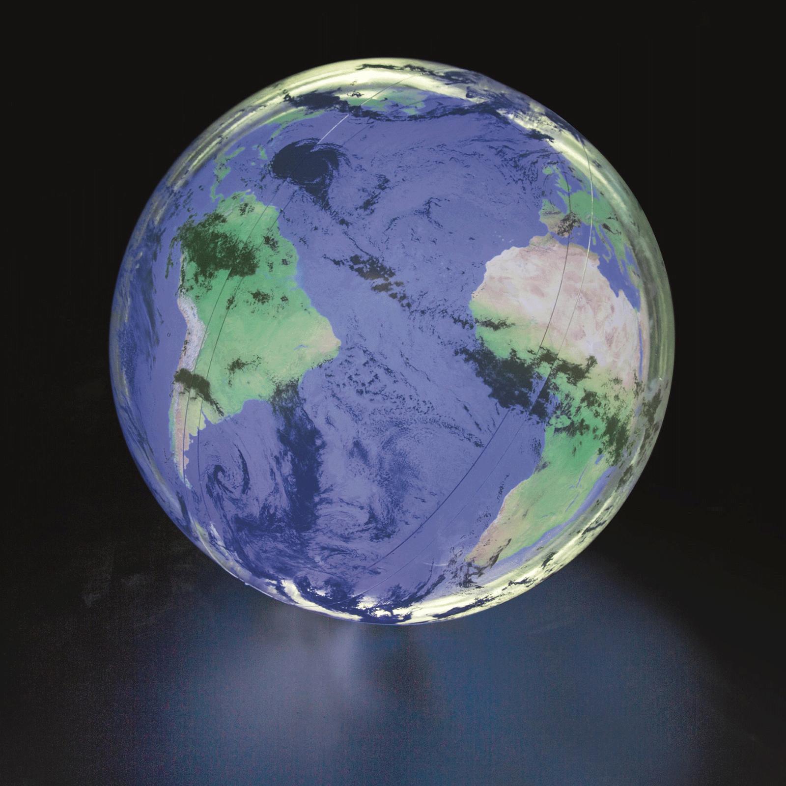 Opblaasbare bal 'World' met licht