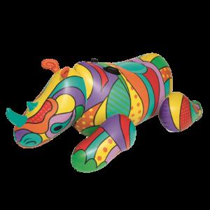 Opblaas Neushoorn Art