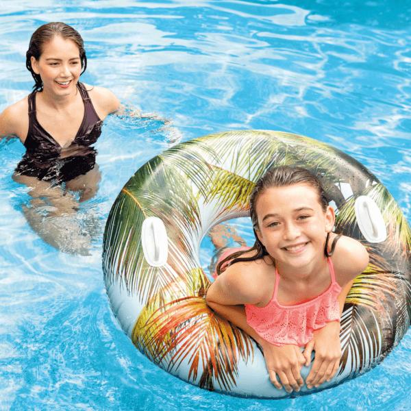 Opblaas zwemband Tropical