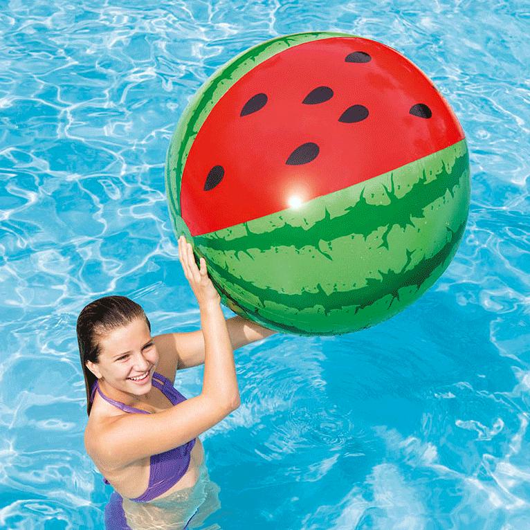 Opblaas strandbal Meloen 107cm