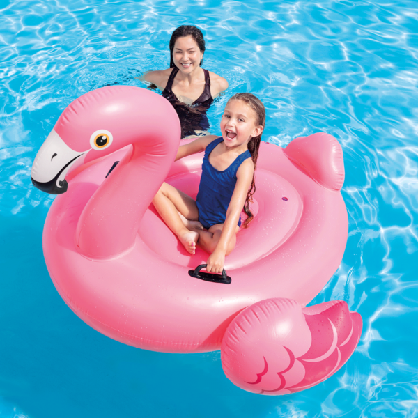 Opblaas flamingo ride - on | summertoys.nl