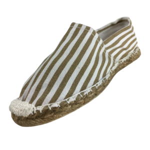 Espadrilles gold stripes