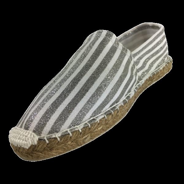 Espadrilles Silver stripes