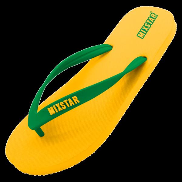 mixstar slipper brasil yellow - men | summertoys.nl