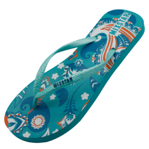 Slipper design blauw