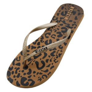 mixstar slipper leopard gold | summertoys.nl