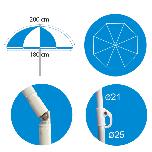 Parasol basic 200cm