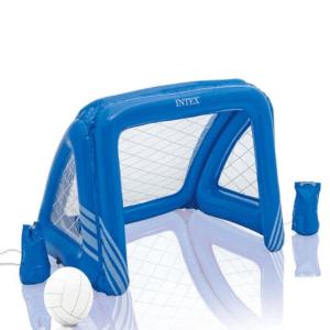 intexopblaasbare goal blauw | summertoys.nl