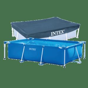1. frame pool 300 x 200 x 75 cm + zwembad afdekzeil