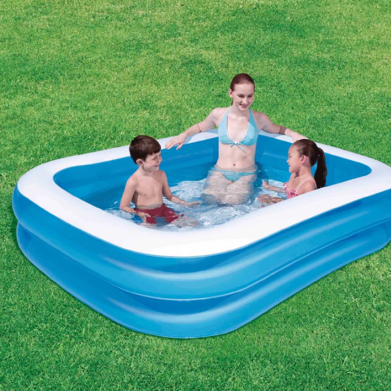 Opblaas zwembad 211 x 132 cm