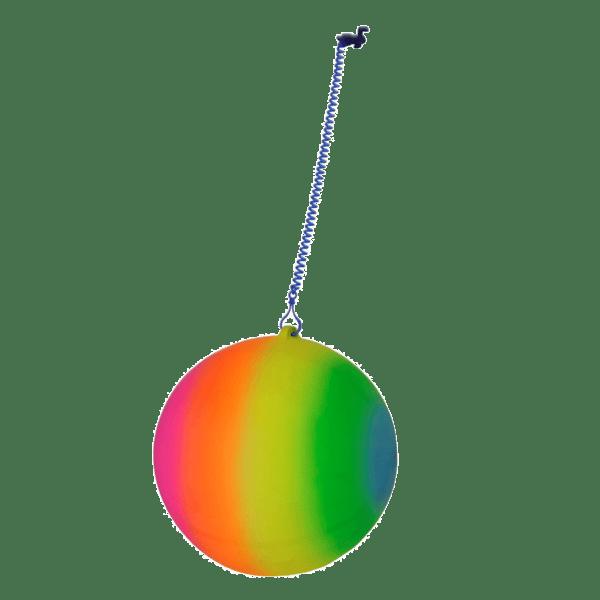 keychain ball rainbow