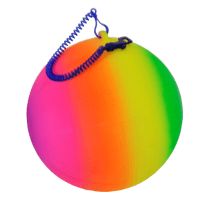 keychain ball rainbow