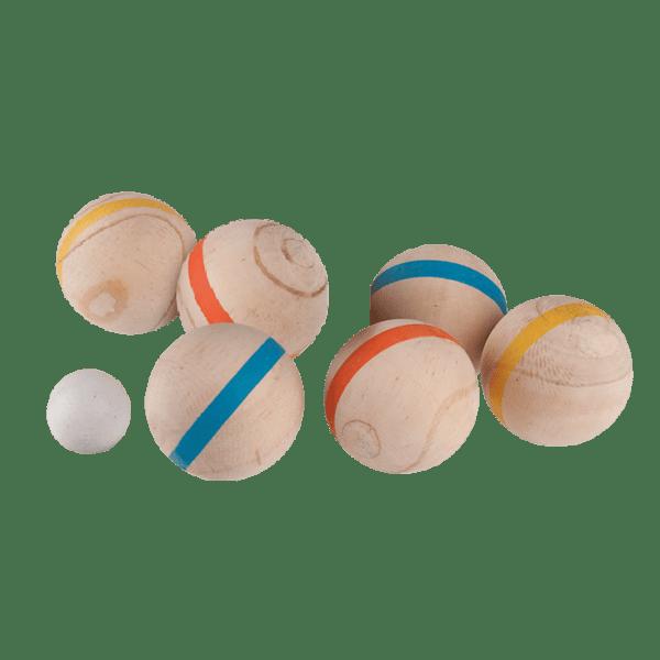 Houten jeu des boules set