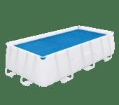 Zwembad afdekzeil zonne-energie 412x201 cm