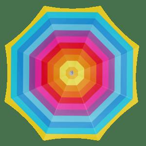 Parasol rainbow 180 cm