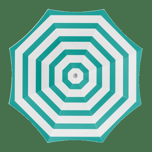 Parasol Green Stribes 180 cm