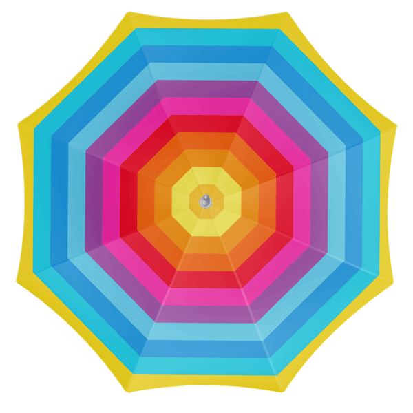 Parasol 180cm Rainbow Nylon