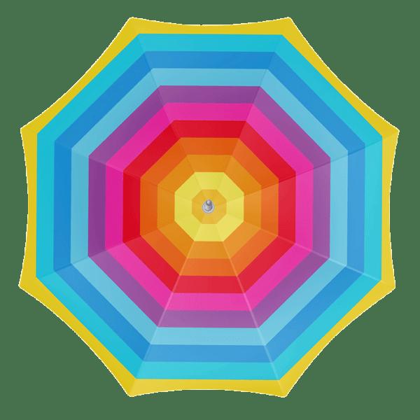 Parasol 200cm Rainbow Polyester