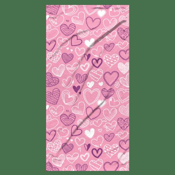 Strandlaken Summer Hearts 75x150 cm