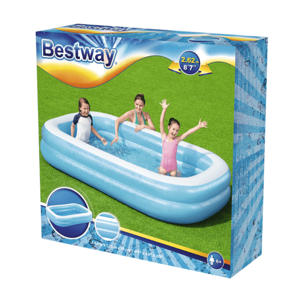 Opblaas zwembad 262x175x51 cm