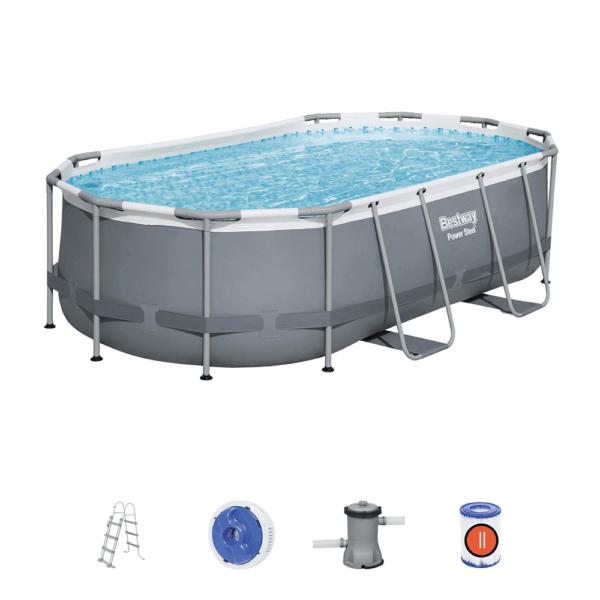 Power Steel zwembad 427x250x100 cm (set)